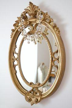 We have a vintage mirror so similar!