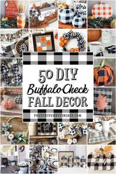 Thanksgiving Decorations, Autumn Decorations, Halloween Decorations, Buffalo Check, Buffalo Print, Buffalo Plaid, Fall Projects, Fall Home Decor, Holiday Decor
