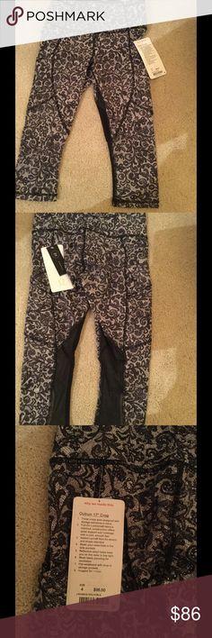 "🍋 New Lulu outrun 17"" crop pants .🍋 New Lululemon Outrum 17"" crop sheer pants .Price firm lululemon athletica Pants Capris"