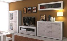 Pokój dzienny OLIVIA, krem / dąb ancona  Kolekcja Olivia to zestaw o perfekcyjnym wzornictwie łączący wartości użytkowe z wysoką jakością wykonania. Ozdobna, patynowana listwa MDF w kolorze kremowym dodatkowo podkreśla walory estetyczne tej kolekcji mebli. Szafy i witryny kolekcji Olivia o niestandardowej wysokości 217 cm pozwalają wykorzystać pełną wysokość wnętrza, w którym się znajdują.