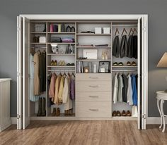 Love the drawers, shelves and space for hanging clothes.