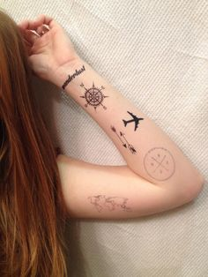 What about some travel inspired temporary tattoos?