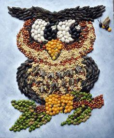 Resultado de imagen para ´cuadros rusticos  con semillas y granos secos