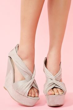 twisted platform wedge - very cute, if only the heel was shorter