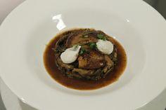 Sote de ciuperci cu foie gras Foie Gras, Beef, Meat, Steak