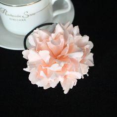 Blue/pink/white carnation led light up flower hair tie - LED hair accessory - Dongguan Duosen Hair Accessory Co.,LTD