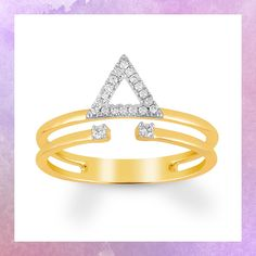 5e00ef791ad Build a hot look with the deconstructed design of this yellow gold fashion  ring. Gold