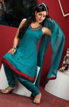 Bewitching Anarkali Style Churidar Kameez Set