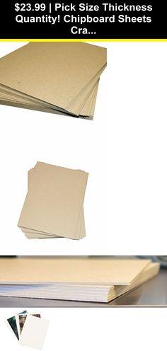 Pick Quantity 1-750 12x12 Chipboard Pads THICK Sturdy 30PT .030 Scrapbook Sheet