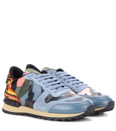 Pin for Later: 24 Cool Pairs of Trainers That Wont Make You Compromise Comfort For Style Valentino Rockrunner Fabric, Suede And Printed Leather Trainers Valentino Rockrunner Fabric, Suede And Printed Leather Trainers (£680)