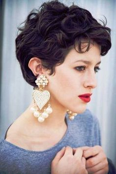 The best collection of Great Curly Pixie Hair, Pixie cuts, Latest and short curly pixie haircuts, Curly pixie cuts pixie hair Short Curly Pixie, Curly Pixie Cuts, Thin Hair Cuts, Thick Curly Hair, Pixie Bangs, Pixie Wavy Hair, Wavy Pixie Haircut, Undercut Pixie, Pixie Bob