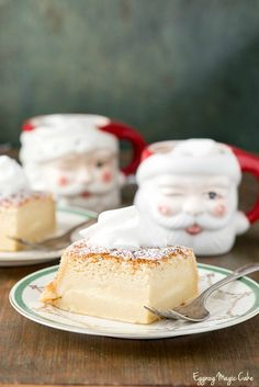 Eggnog Magic Cake. A magic transformation turns an easy cake recipe into a three layered surprise while baking! An irresistible holiday cake recipe. - BoulderLocavore.com