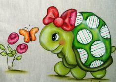 Pintura em tecido Tortuga