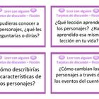 36 Fiction and 36 Non-Fiction Generic Reading Comprehension Discussion/Question Cards in Spanish for Partner Reading Literacy Station. Read to Some...