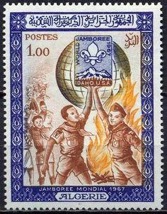 US $1.12 in Stamps, Africa, Algeria