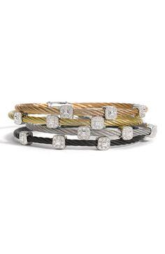 Charriol 'Nautical Cable' Diamond Bracelet