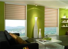 Roller blinds in the interior