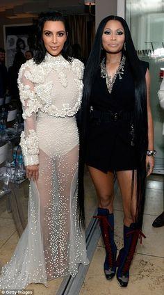 Kim & Nicki at the Fashion Los Angeles Awards.
