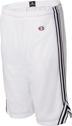358b41a1197a Champion 3.7 oz. Lacrosse Mesh Short - WHITE BLACK - S