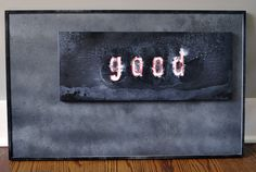 """Positive Omen"" also known as ""Good Sign"" Folk Art Painting on Wood by Rob Johnston"
