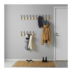 IKEA KARTOTEK rack with 5 hooks The plastic pocket around the label protects against dirt and water. Wall Mounted Shoe Storage, Ikea Shoe Storage, Small Storage, Clothes Storage, Door Hooks, Entryway Coat Hooks, Hallway Storage, Wall Hooks, Kiefer