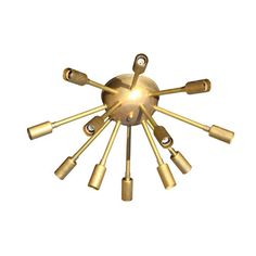 Brass Flushmount Sputnik Light - we love this funky, eclectic lighting. It would make such an impact in the nursery or playroom! #PNshop