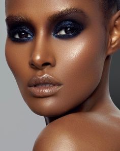 Glossy Eyes, Glossy Makeup, Dark Skin Makeup, Glam Makeup, Beauty Makeup, Eye Makeup, Hair Makeup, African Makeup, African American Makeup