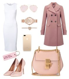 """""""My First Polyvore Outfit"""" by elisants ❤ liked on Polyvore featuring Miss Selfridge, Topshop, Chloé, Victoria Beckham, Various Projects and Michael Kors"""