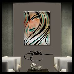 Original Abstract painting Modern Home Decor HUGE by fidostudio