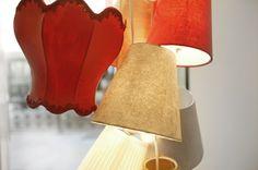 ZIA PINA hanging lampshades. BLANCO SHOES. Modena. Design by AMORFO STUDIO