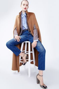 J.Crew women's fall/winter 2016 collection. Camel cape below the knee.