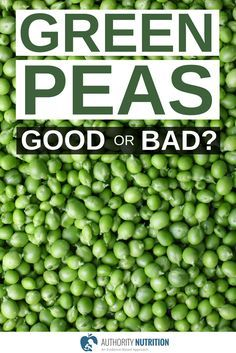 Green peas are high in nutrients, fiber and antioxidants. This article explores why green peas are healthy and the possible health effects they may have. Learn more here: https://authoritynutrition.com/green-peas-are-healthy/