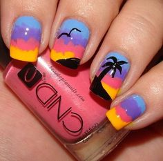 20 Sunset Nail Design Ideas Free Technician Information