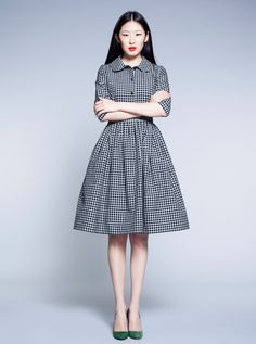 Black and White Tartan Dress | Mrs Pomeranz