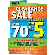 VOIR Group 3rd Clearance Sale Cheras Leisure Mall