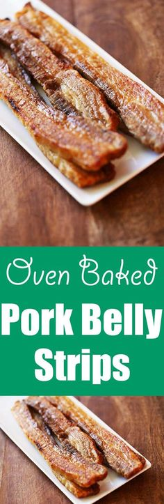 Crispy, fatty, very flavorful pork belly strips are perfect as a first course, or try them for breakfast instead of bacon. via @healthyrecipes