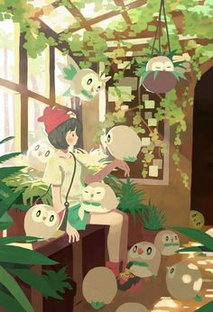 Moon - Rowlet - pokemon SM - gud art - cute