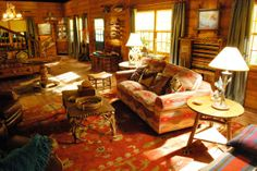 Though the show didn't last long, GCB did have the right idea by putting solar shades on the ranch living room set to protect that bold furniture!