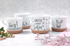Clay Pot Crafts, Diy Clay, Diy Kallax, Diy Becher, Mug Diy, Pottery Courses, Decoration Ikea, Pottery Store, Painted Cups