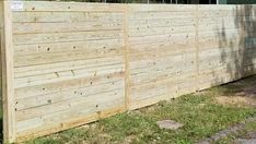 Custom built horizontal wood fence by Steve & his crew from Wood Privacy Fence, Fence Styles, Different Styles, Garage Doors, Outdoor Decor, Home Decor, Decoration Home, Room Decor, Carriage Doors