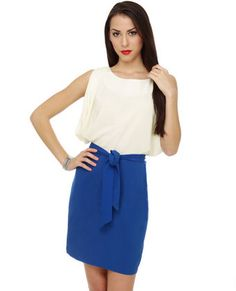 Spring Water Color Block Blue Dress- $58 Perfect Grove Dress!