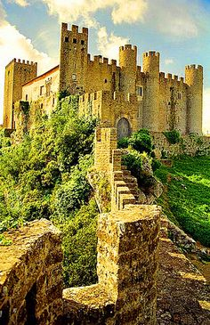 Medieval Castle in Obidos, Portugal