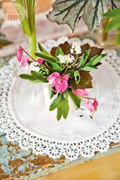 Spring arrangement: Burgundy and pink beauties {PHOTO: Ashley Capp}