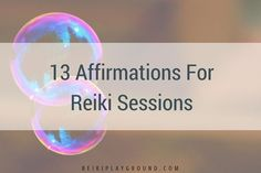 affirmations for Reiki sessions