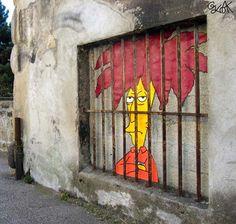 OakOak tribute to Sideshow Bob in Saint Etienne, France