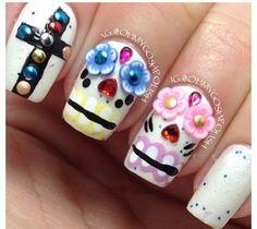 Nails dia de muertos