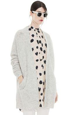 Raya Sh Mohair Dove White #cardigan #knit #acne