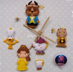 Baby Felt Mobile Beauty and the Beast Mobile Hanging