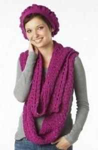 La Poetique Scarf and Beret Set #crochet #pattern