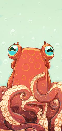 Goldie the Octopus Best Picture For Sealife Drawing illustration. Best Picture For Sealife Drawing Cute Octopus, Octopus Print, Octopus Eyes, Octopus Octopus, Octopus Drawing, Octopus Painting, Art Drawings, Animal Drawings, Posca Art